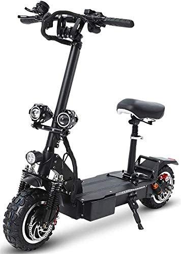 XINHUI Scooter eléctrico 3600W Motor Dual de 11 Pulgadas Llantas de vacío Fuera de Carretera Doble Disco Freno Scooter Plegable con 60V 30 AH batería de Litio