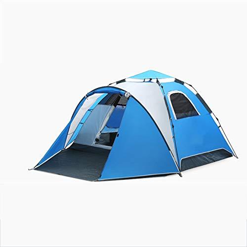 ZYCW Tienda de Campaña, Personas Pop Up automático Grandes Carpas Impermeable Abrigo del Sol Tiendas, Ultraligera, Impermeable, tamaño pequeño, para Senderismo, Camping, Exterior (Blue)