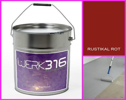 6,75€/l - 20L Bodenbeschichtung Betonfarbe Bodenfarbe Bodenversiegelung Garagenfarbe Rustikal Rot