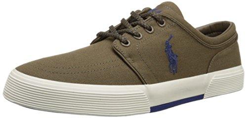 Polo Ralph Lauren, Faxon, scarpe da ginnastica a collo basso, Verde (Dark Sepia), 44