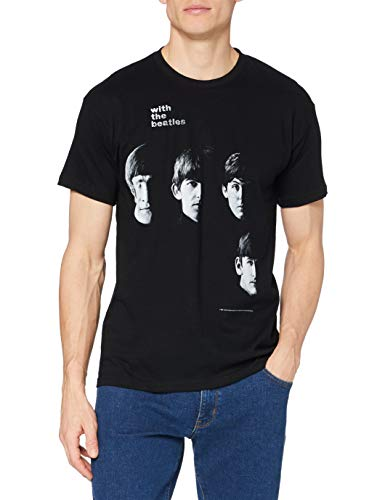 Beatles-with The Beatles Men's Short Sleeve Shirt Gr. XL, Schwarz - Schwarz