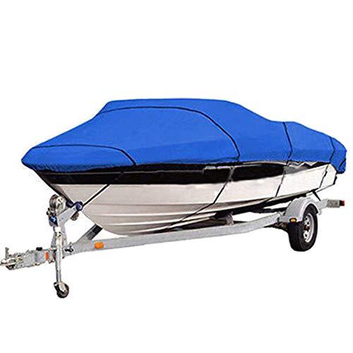 Universal Cubierta de Barco, Multi-Tamaño Impermeable 210D Oxford Resistente a los Rayos UV A Prueba de Intemperie Funda de Lancha para V-Hull, Tri-Hull, Barco de esquí de Pesca,20 21 22FT
