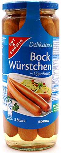 Gut und Günstig Delikatess Bock-Würstchen, 6er Pack (6 x 1kg)