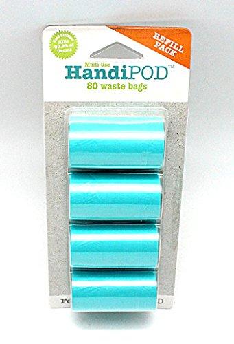 Magnet & Steel HandiPOD Dog Poop Bag and Hand Sanitizer Dispenser (Turquoise)