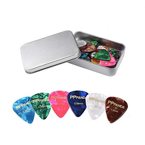 Guitar Picks 48pcs, PPpanda Guitar Plectrums For Your Electric, Acoustic,...