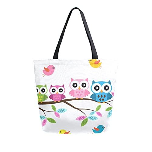 MeetuTrip - Bolsa de lona para mujer, grande, reutilizable, bolsa de hombro, para escuela, adolescentes, niñas, profesora de viaje