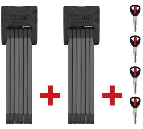 ABUS Faltschloss Bordo Twinset 6000/90, Black, 2 x 90 cm, 53193
