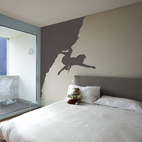 Etiqueta engomada etiqueta límite deportes cartel vinilo pared calcomanía decorativo escalada pegatina 56 * 73 cm