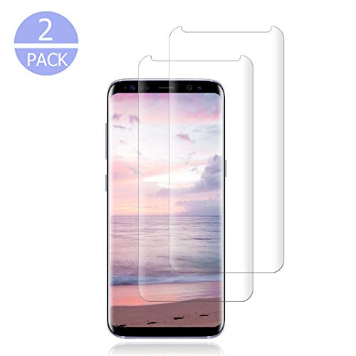[2 Pack] Samsung Galaxy S9 Tempered Glass Screen Protector [9H Hardness] [No Bubbles] [NO Scratch] Screen Protector Compatible with Samsung Galaxy S9