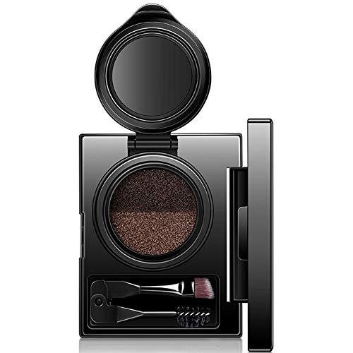 1set front contour kit double couleur palette de maquillage sourcils avec brosse cosmétique miroir sourcil beauté pochoirs Soft sourcil surligneur tempérament gris