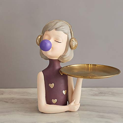 know Entrada de Almacenamiento de Llaves decoración Creativa Linda Sala de Estar Mesa de Centro decoración del hogar-Pallet Bubble Girl-Purple