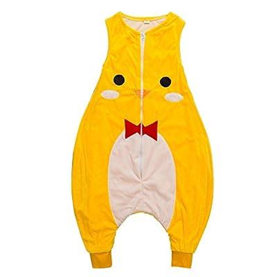 Sacos de Dormir para niños 1.5 Tog con Piernas Cremallera Frontal