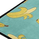XiangHeFu Alfombras de área Plátanos Suaves 39x20 Pulgadas Alfombrillas Alfombra Alfombra Personalizada Decorativa para Sala Comedor Dormitorio Cocina