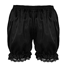 Men's frilly satin bloomers.