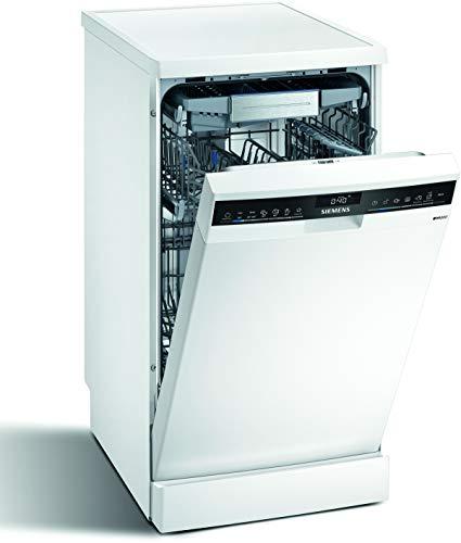 Siemens SR25ZW11ME iQ500 Lavavajillas independiente, C, 59 kWh, 10 MGD, secado zeolita, compatible con Smart Home Connect, varioSpeed Plus.