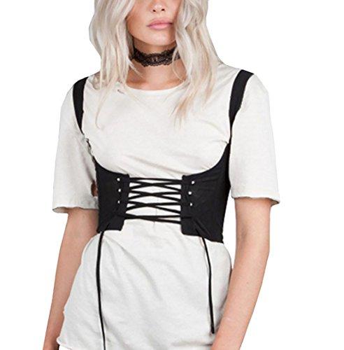 Boomly Damen Sexy Korsett Gürtel Gürtel Gürtel Einstellbar Schlinge Gürtel Cowboy Weste Für Frauen Mädchen (Schwarz, XL)