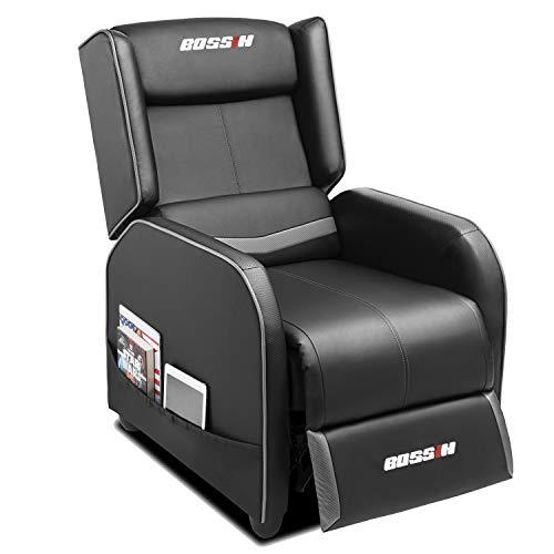 BOSSIN Gaming Recliner Chair Single Recliner Sofa PU Leather Recliner Seating Sofa Ergonomic Lounge...