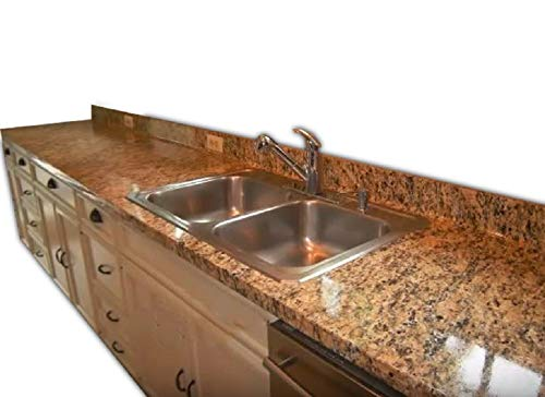 EZ FAUX DECOR Self Adhesive Marble Venetian Gold Granite Roll Kitchen Countertop Instant Update. Heat Resistant Removable Thick Waterproof Vinyl Laminate Contact Paper Film. Not Paint 36' x 144'
