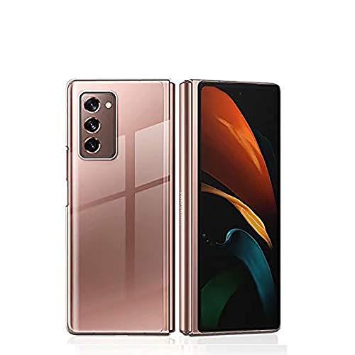 XJZ Kompatibel mit Samsung Galaxy Z Fold 2 Smartphone Hülle(2020)+3D Panzerglas/Hülle Ultra Dünn 3 in 1 Schutzhülle 360 Grad Stoßfest Hülle Cover Handyhülle für Samsung Galaxy Z Fold 2-Transparent