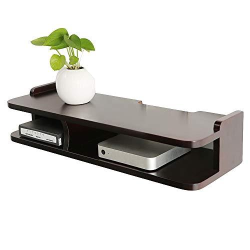 DEWUFAFA Router Storage Box, Schlafzimmer Wohnzimmer TV Set-Top-Box Regal-Speicher Holzwand Hangin 2 Farben 23.4