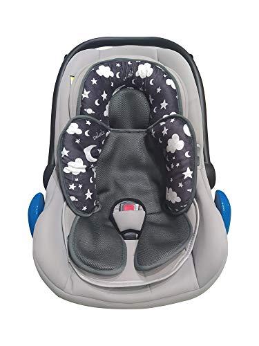 Reductor universal para cochecito de bebé, diseño 2021 ideal como reductor de cuna o para capazo de bebé, apto para cojín de asiento de coche, transpirable, antisudor, verano e invierno
