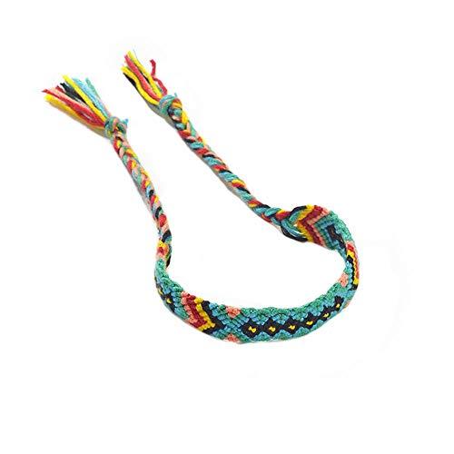 Candian Pulsera bohemia retro étnica tejida pulsera colorida Totem joyería tobillo amistad pulsera para amigos compañeros de clase hermanas familia