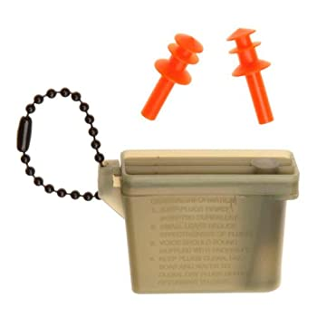 Tac Shield Ear Plugs Hearing Protection with Case Green/Orange  3926