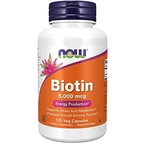Biotin Biotina 5000mcg (120 Cápsulas Veganas) Now Foods