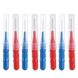 ROSENICE Cepillo interdental dentales de palillo de dientes en Rojo y Azul 50pcs