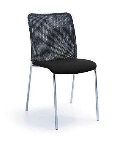 2er SET Besucherstühle Konferenzstuhl SUN Schwarz