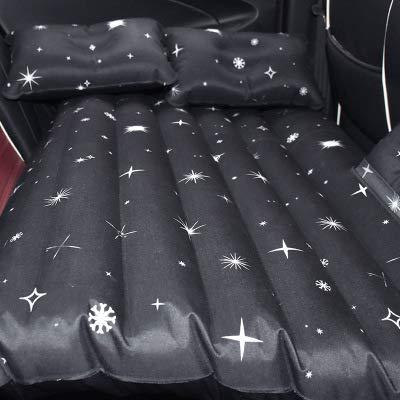 Haoer Auto Aufblasbare Bett Reisebett Autokissen Luftmatratze 138 * 80 cm,Schwarz