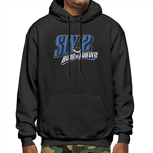 shenguang Band of Thieves Sly Cooper 2 Man Hoodie Pullover Felpa a Maniche Lunghe Nera