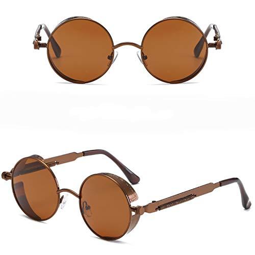 Buy Discount Tuscom Round Retro Polaroid Sunglasses Vintage Steampunk Style Eyewear