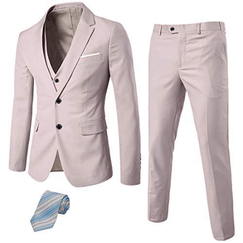 UNINUKOO Mens Tuxedo Slim Fit Pants Business Wedding Suit Separates US Size 34 (Label Size 3XL) Black