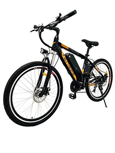 ENGWE Electric Bike Adult Electric Mountain Bike 250W E-Bike 26'' Electric Bicycle with Removable 36V 8Ah Battery, Professional 21 Speed Gear Electric Bicycle (Orange)
