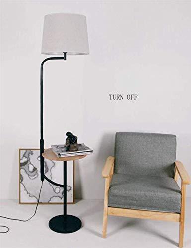 YUQIYU La luz del piso de lino cortina vertical de estanterías de pie luminarias for la sala de estar de noche creativo Incluye bombilla for el dormitorio