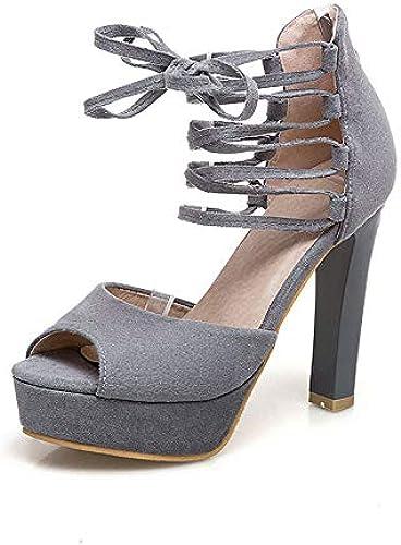 HOESCZS HOESCZS 2018 Talons Hauts été à La Cheville Sandale Chaussures Femmes De Mode élégant Parti Femme Sandales  contre authentique