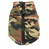 SMALLLEE_LUCKY_STORE New Various Pet Cat Dog Soft Padded Vest Harness Small Dog Clothes Green Camouflage XS, Model:BFL049-Green-XS