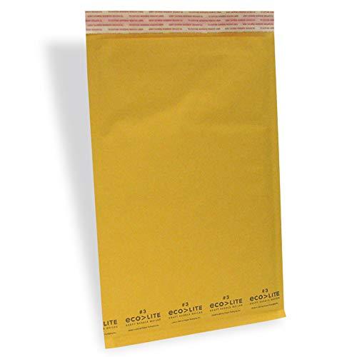 "Price comparison product image Polyair Eco-lite 3 ELSS3 Golden Kraft Self Seal Bubble Mailer,  8 1 / 2"" x 14 1 / 2"" (Case of 100)"