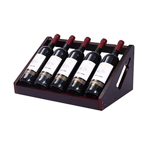 Portabottiglie per Vino Creativo semplice Portabottiglie per Vino per Uso domestico Portabottiglie per Vino semplice Armadietto per gioielli Decorativo Ornamenti per Vino (Capacità