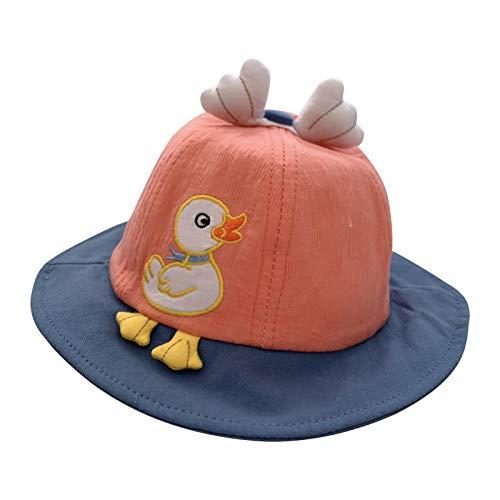 VESNIBA Sombrero de sol para niña, cubo para bebé, niña, niño, niño, niño, niño, sombrero infantil, protección solar UPF 50, unisex naranja 46-48