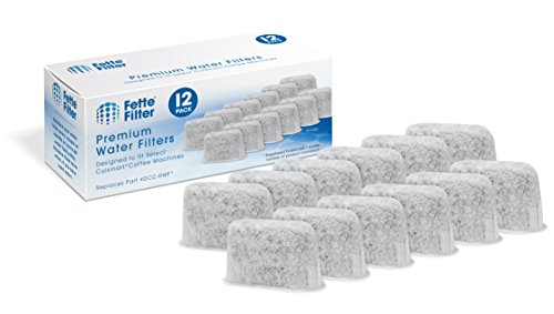 Fette Filter - Activated Charcoal Water Filters for Coffee Machines Compatible with Cuisinart DCC-RWF. (Pack of 12)