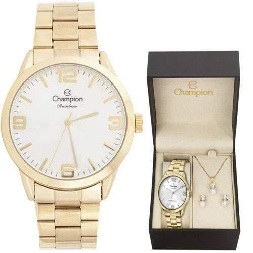Relógio Feminino Dourado Champion Cn29892Z (Dourado)