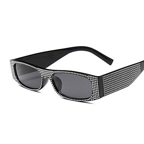 AleXanDer1 Gafas de Sol Moda Cuadrada Gafas de Sol Mujeres rectángulo Gafas de Sol Hembra Rosa Espejo pequeño (Lenses Color : C4)