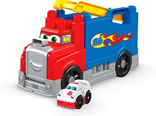 Mega Bloks Autotreno Smonta e Sfreccia, Giocattolo con Blocchi da Costruire Un'Auto da Corsa e Pista, Adatto per i Bambini da 1 a 5 Anni, FVJ01