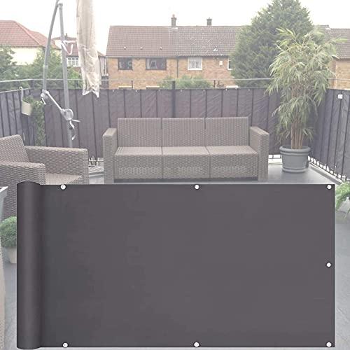 Protección De Privacidad Jardín Balcón Pantalla De Privacidad, 100% Privacidad PES Pantalla Cortavientos Sol Viento Protección UV Cubierta De Protección De Seguridad para Balcón (Color: A, Tamaño: 0.
