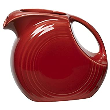 Fiesta 67-1/4-Ounce Large Disk Pitcher, Scarlet