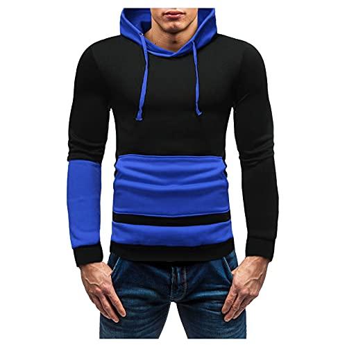Chejarity Kapuzenpullover Colorblock Herren Basic Kapuzenjacke Hoodie Slim Fit Moden Sweatshirt Langarm Pullover-Shirt mit Kapuze Sportjacke Outdoorjacke Patchwork Hooded Sweatshirt