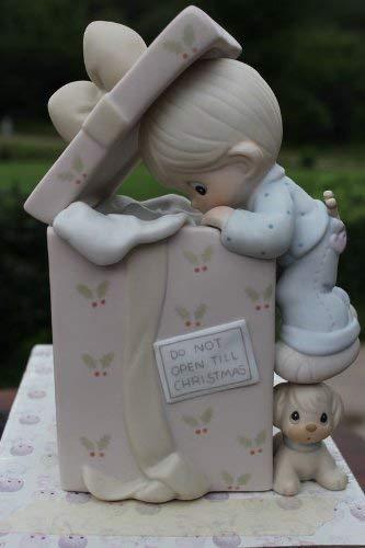 Precious Moments Figurine 522244 Do Not Open Till Christmas