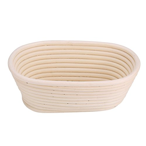 SANON Oval Banneton, Bread Proofing Basket, Brotform Sourdough Proving Basket Natural Rattan Bowl for Bread and Dough Rising 21148cm